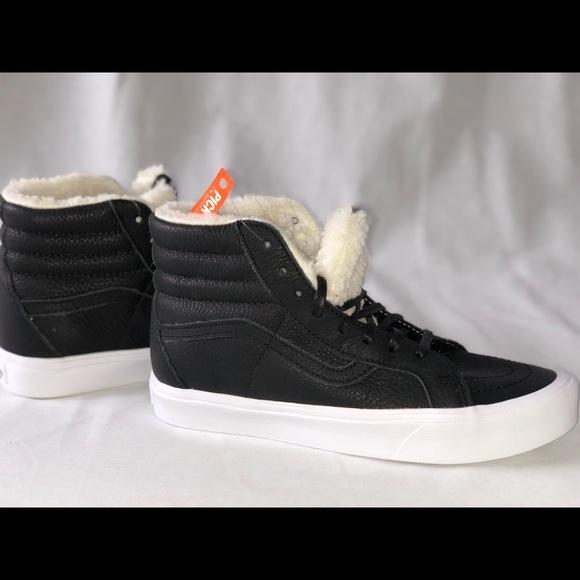 c0ca47691a Vans SK8-Hi Reissue Lite (Sherpa) Black True White